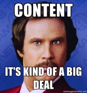 Will Ferrell says content is kind of a big deal.
