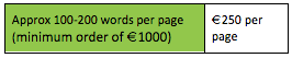 This is how much a copywriter is in Ireland for brochure writing
